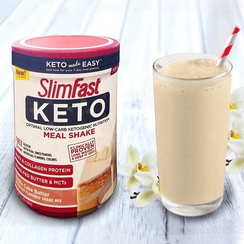 SlimFast Keto Meal Replacement Shake Powder